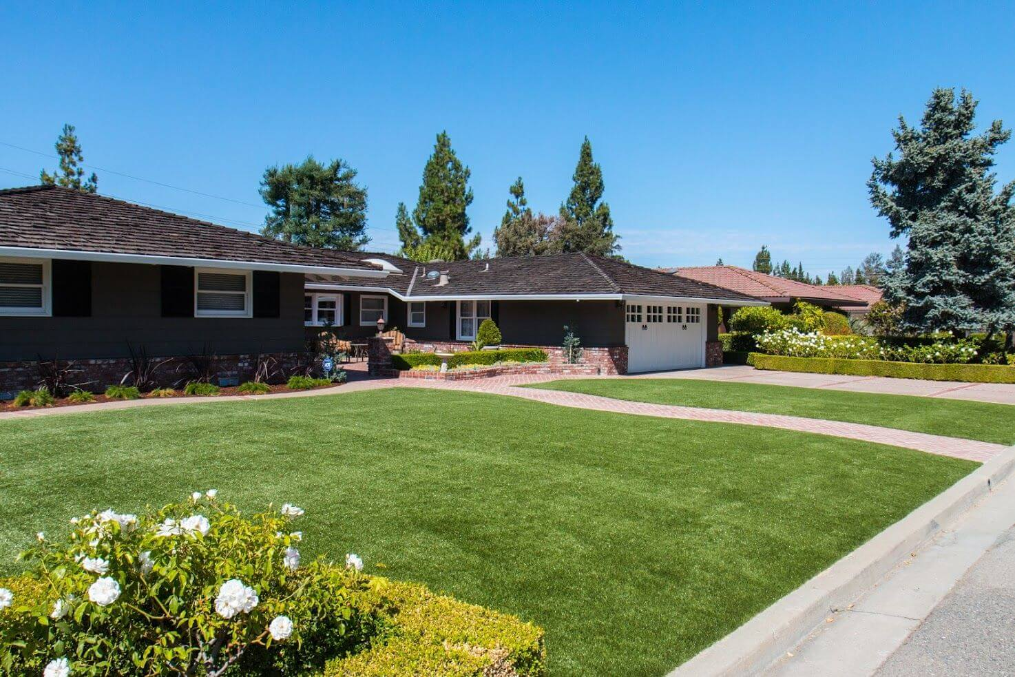 home with turf