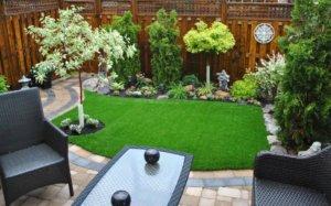 artificial turf small backyard
