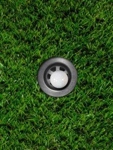 hole artificial grass