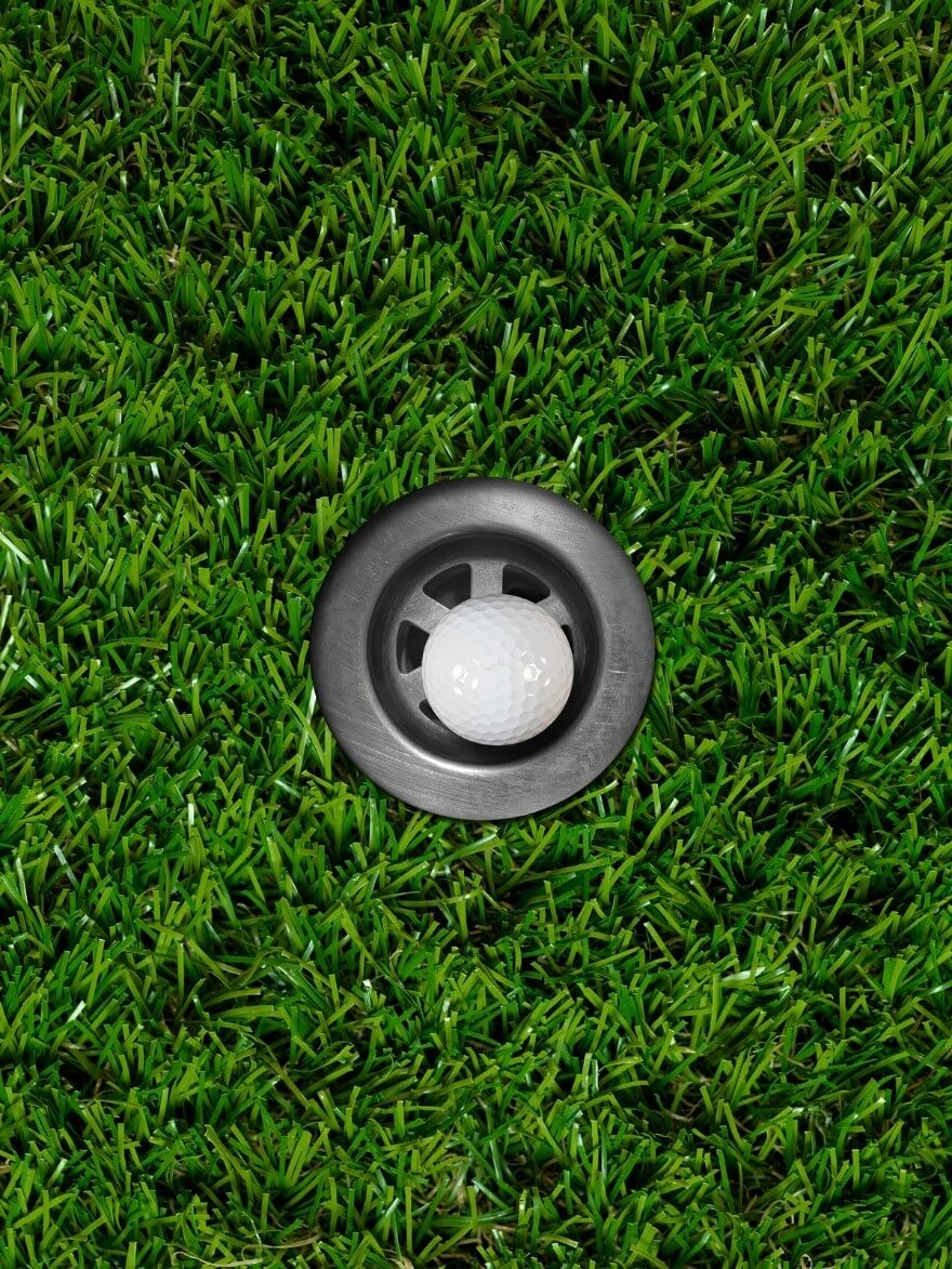 hole artificial grass